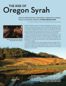 The Rise of Oregon Syrah